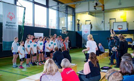 08.03.2018, Pressekonferenz Sport: Die teilnehmenden Athleten präsentieren sich den Anwesenden. (Foto: SOD/Sascha Klahn)
