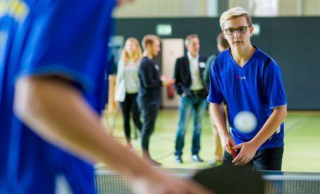 08.03.2018, Pressekonferenz Sport: Spieler vom Unified Tischtennis-Team Meldorf zeigen ein Demospiel. (Foto: SOD/Sascha Klahn)