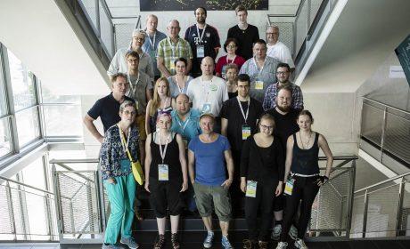 Das Team der Inklusiven Redaktion der Special Olympics Hannover 2016. (Foto: SOD/Stefan Holtzem)