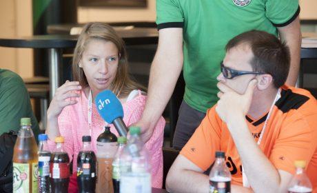 Erfahrungsaustausch der Inklusiven Redaktion bei den Special Olympics Hannover 2016. (Foto: SOD/Julia Krüger)