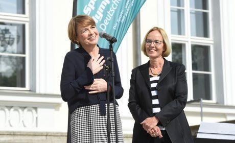 Schirmherrin Elke Büdenbender, Ehefrau von Bundespräsident Frank-Walter Steinmeier, freut sich schon jetzt, dass sie am 14. Mai 2018 die Special Olympics Kiel 2018 eröffnen wird. (Foto: SOD/Juri Reetz)