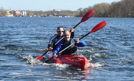 SOD-Athlet Jan Eichler mit dem Unified-Partner Thomas Brockmann. (Foto: SOD/Juri Reetz)