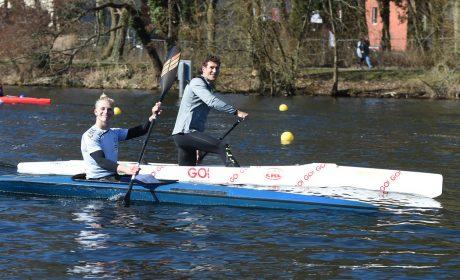 Sebastian Girke konnte mit seinem Idol Olympiasieger Sebastian Brendel zusammen trainieren. (Foto: SOD/Juri Reetz)
