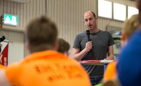 SOD-Sportbotschafter Thomas Lurz beantwortete die Fragen der Athleten. (Foto: SOD/Jo Henker)