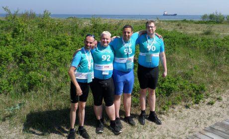 Die vier Radfahrer von den Lichtenberger Werkstätten (Foto: Antonia Holland-Cunz)