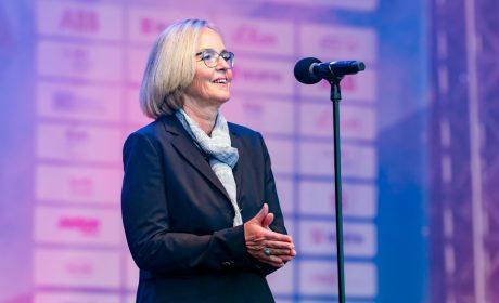 SOD-Präsidentin Christiane Krajewski beendete offiziell die Special Olympics Kiel 2018. (Foto: SOD/Sascha Klahn)