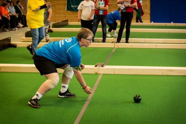 Julia Simianer von der Lebenshilfe Bruchsal-Bretten e.V. bei den Special Olympics Kiel 2018. (Foto: SOD/Jo Henker)
