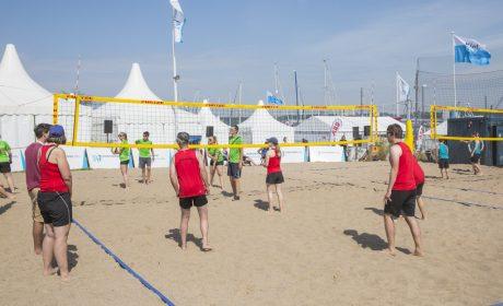 Beachvolleyball: Das Team Rummelsberger Dienste Auhof in Bayern vs. das Team Wilhelmsdorf. (Foto: SOD/Florian Conrads)