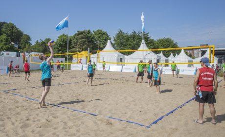 Die Beachvolleyball Wettbewerbe haben an der Rewentlouwiese stattgefunden. (Foto: SOD/Florian Conrads)