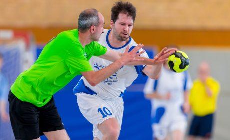 Handball: Peter Babel, SV Werder Bremen, Dennis Thelen, Durlach Tornados (Foto: SOD/Sascha Klahn)