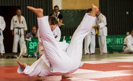 Judo, Unified-Kata Wettbewerb: Athletin Caroline Anzinger und Unified-Partnerin Zitta Notter von der HPCA München-Otto-Steiner-Schule. (Foto: SOD/Jo Henker)