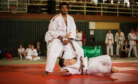 Judo: Roman Peter und Samuel Dietz von der HPCA München-Otto-Steiner-Schule. (Foto: SOD/Jo Henker)