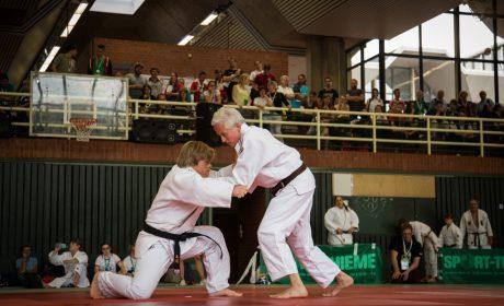 Judo, Unified-Kata Wettbewer: Athlet Viktor Gdowczok und Unified-Partnerin Alexandra Rossbach vom Bushido Köln. (Foto: SOD/Jo Henker)
