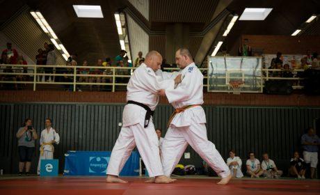 Judo, Unified-Kata Wettbewerb: Athlet Marcel Cichos und Unified-Partner Sven Neuber von der SV Inklusiv Berlin. (Foto: SOD/Jo Henker)