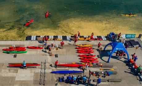 An der Sportstätte der Kanu-Wettbewerbe der Special Olympics Kiel 2018 an der Hörn. (Foto: SOD/Sascha Klahn)