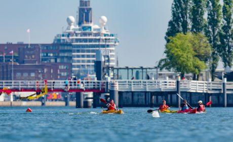 Die Kanu-Wettbewerbe der Special Olympics Kiel 2018 werden an der Hörn auf der Kieler Innenförde ausgetragen. (Foto: SOD/Sascha Klahn)