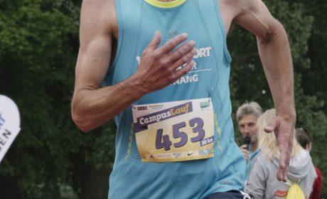 Leichtathletik, 10.000 m Lauf: Christian Weißenberger, Diakonie Pfingstweid e.V. Tettnang, auf der Zielgeraden. (Foto: SOD/Jörg Brüggemann OSTKREUZ)