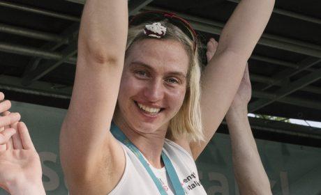 Rebecca Weiss, Siegerin 5.000m Lauf, F1. (Foto: SOD/Jörg Brüggemann OSTKREUZ)
