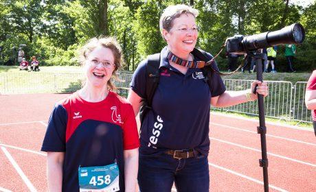 'Gesicht der Spiele' Michaela Harder bei den Leichtathletik-Wettbewerben. (Foto: SOD/Stefan Holtzem)