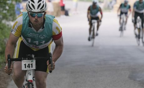 Radfahren, Finale 25km Strassenrennen: David Panke, Förderverein Special Olympics Hochrhein e.V. (Foto: SOD/Jörg Brüggemann OSTKREUZ)