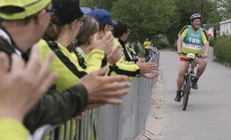 Radfahren, Finale 25km Strassenrennen: Gerhard Busam, BSG Offenburg e.V. (Foto: SOD/Jörg Brüggemann OSTKREUZ)