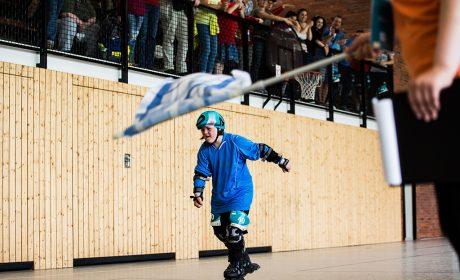 Rollerskating: Bente Mander, Schule Paracelsusstraße Hamburg, auf dem Weg ins Ziel. (Foto: SOD/Sarah Rauch)