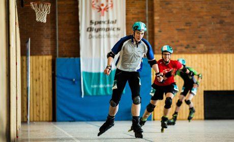 Rollerskating: Alessandro Gambuzza, Hilda Heinemann Schule Remscheid, auf dem Weg ins Ziel über 500m. (Foto: SOD/Sarah Rauch)
