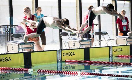 Start bei den Schwimm-Wettkämpfen bei den Special Olympics Kiel 2018 im Uni Sportforum der Universität Kiel. (Foto: SOD/Stefan Holtzem)