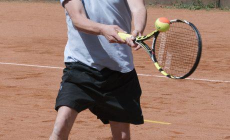 Tennis, Einzel Männer: Maximillian Lenzen, EbK Olching e.V. (Foto: SOD/Jörg Brüggemann OSTKREUZ)