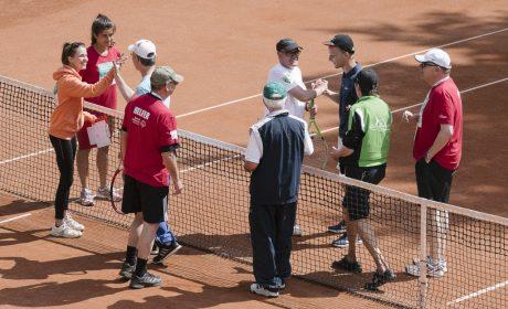 Tennis, Einzel Männer: Jens Graumann, TC Grün Weiss Neuss, und Frank Stelzer, NTC Stadtwald (Foto: SOD/Jörg Brüggemann OSTKREUZ)