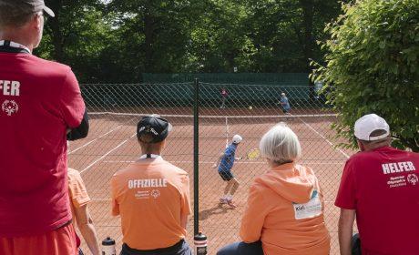 Die Tennis-Wettbewerbe der Special Olympics Kiel 2018 wurden auf dem Gelände des TG Düsterbrook e.V. ausgetragen. (Foto: SOD/Jörg Brüggemann OSTKREUZ)