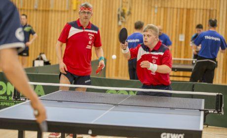 Florian Wandke und Stephan Baum, Bodelschwingh-Hof Mechterstädt e.V. im Doppel. (Foto: SOD/Florian Conrads)