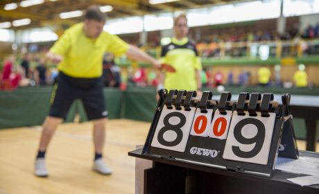 Ein spannendes Spiel beim Tischtennis. (Foto: SOD/Florian Conrads)