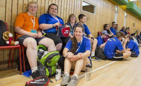 Athleten der Astrid-Lindgren-Schule Meldorf beim Tischtennis. (Foto: SOD/Florian Conrads)