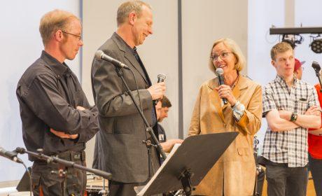 Familienempfang: Auch SOD-Präsidentin Christiane Krajewski nahm am Familienempfang teil. (Foto: SOD/Florian Conrads)